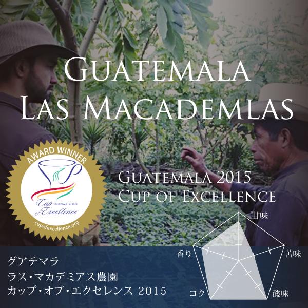 グアテマラ ラス・マカデミアス農園 カップ・オブ・エクセレンス2015