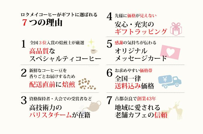 ロクメイコーヒーがギフトに選ばれる7つの理由